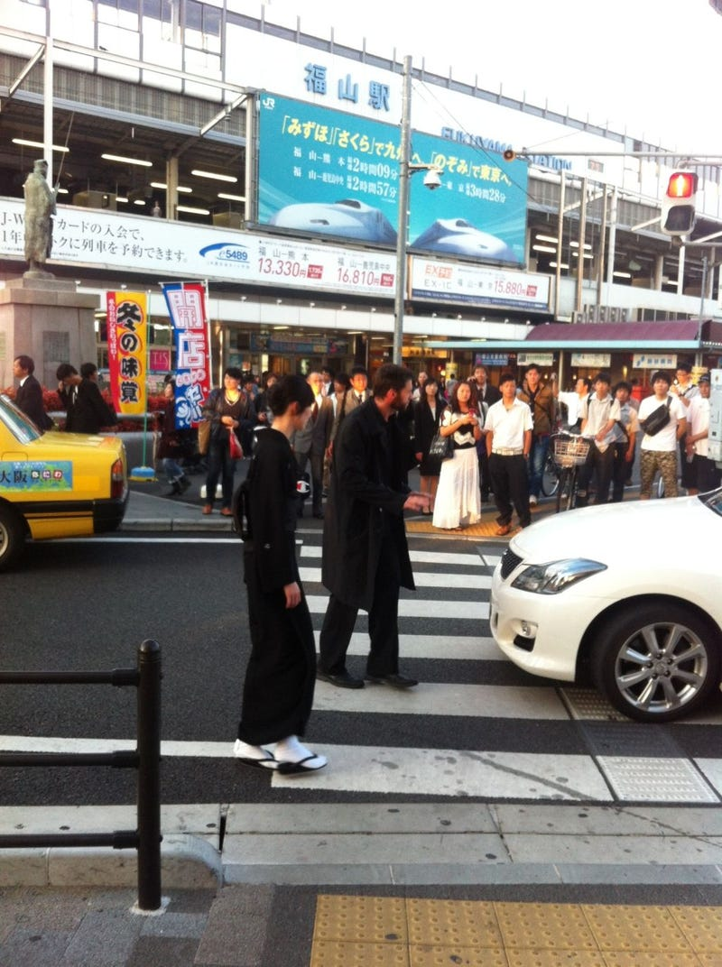 The Wolverine filming images from Japan