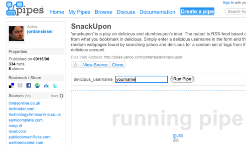 SnackUpon Creates an RSS Feed Tailored to Your Tastes