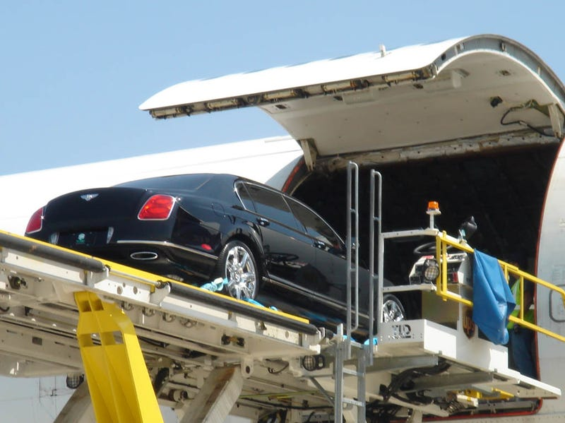 How To Load An Armored Bentley On A Jet