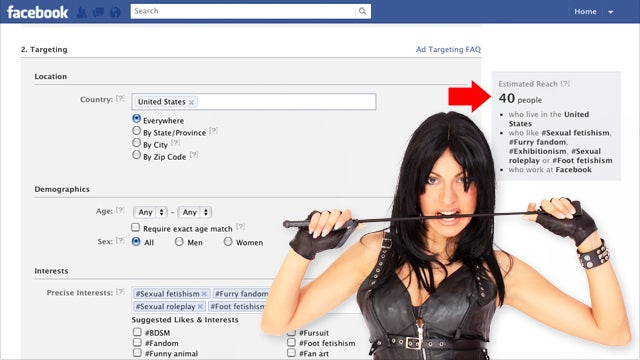 Use Facebook's Targeted Ads to Find Out How Many People Are Into Kinky Sex in Any Workplace