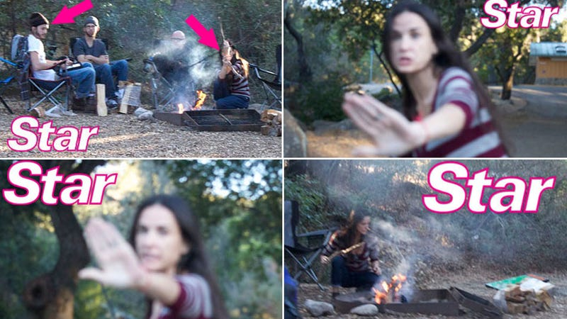 Demi and Ashton Reunite, Freak Out, on Yom Kippur Camping Trip