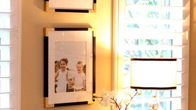 Upgrade Your Dull, Boring Frames with Some Painter's Tape and Spray Paint