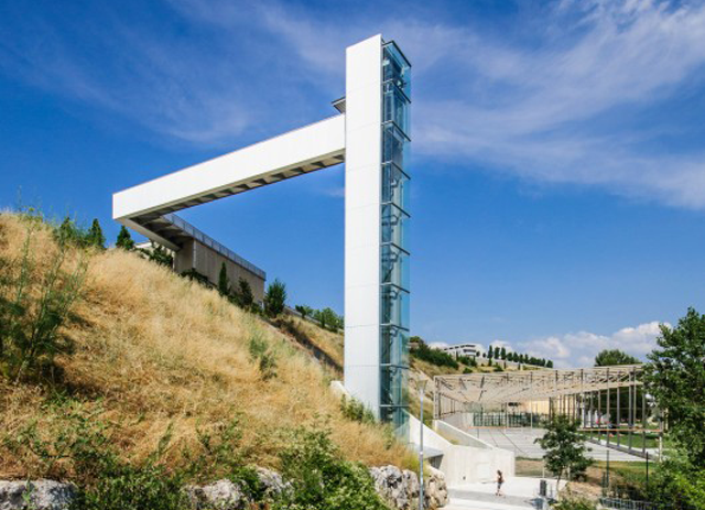 Ride an Outdoor Elevator to a Walkway in the Sky