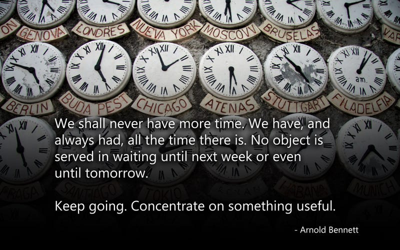 Keep Going. Concentrate on Something Useful.