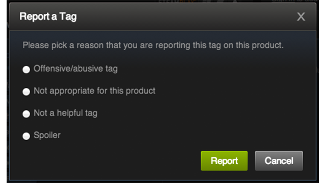 """Valve Now Letting Users Flag Steam Tags as """"Abusive"""" and """"Spoiler"""""""