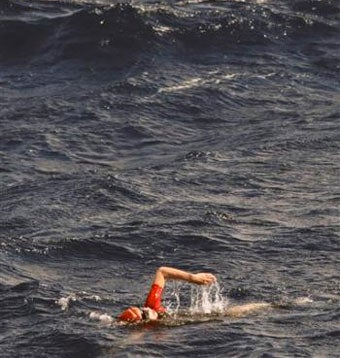 Woman Swims Across The Atlantic Ocean (Except When She Doesn't)