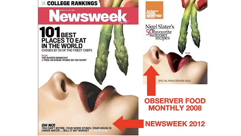 Newsweek Recycles Porny Stock Image Photo for This Week's Cover