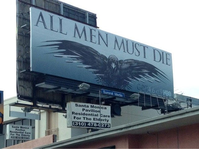 Grim Game Of Thrones Billboard Is In A Very Inappropriate Place