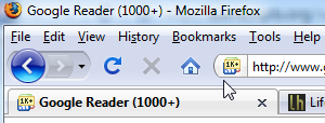 Show Google Reader Unread Counts in the FavIcon
