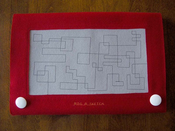 Etch-A-Sketch Laptop Case Is More Fun Than the Computer Inside