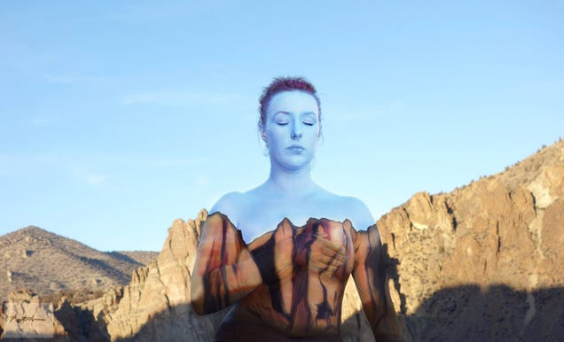 People turn invisible in these awesome body paint photographs (NSFW)