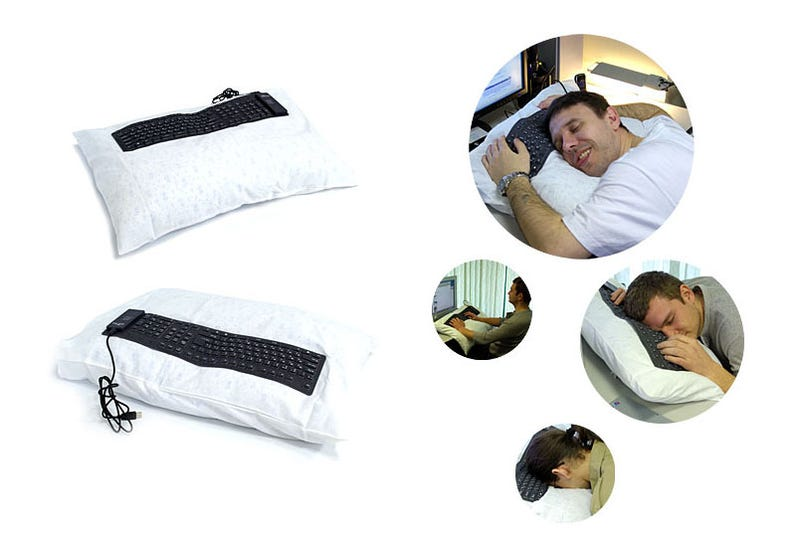 Pillow Keyboard For Napping On The Job