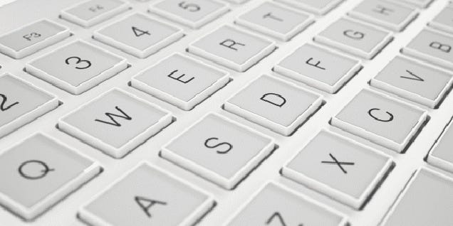 This Dynamic E-Ink Keyboard Needs To Become a Real Thing