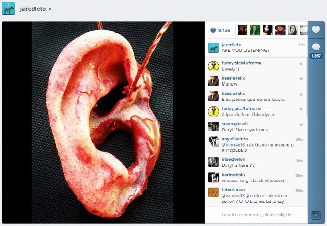 Jared Leto Claims Crazed Fan Sent Him Severed Ear as a Gift, Posts Photo of Severed Ear to Prove It (NSFW)