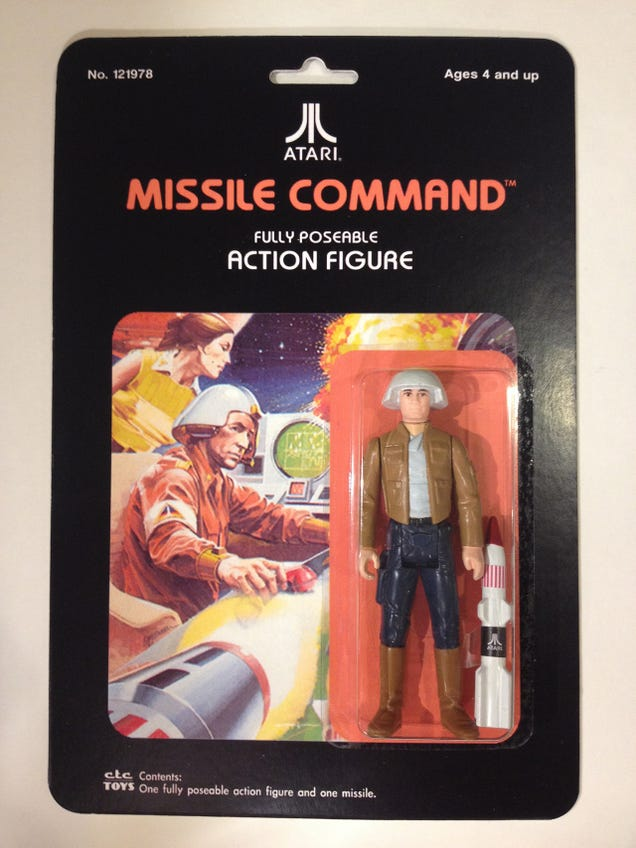 Perfect Custom Action Figures Based On Classic Atari Video Game Box Art