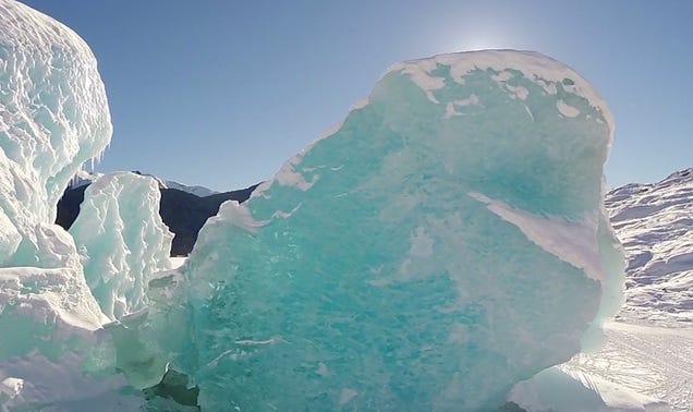 Mergulhe Através de cavernas de gelo e pular Crevasses