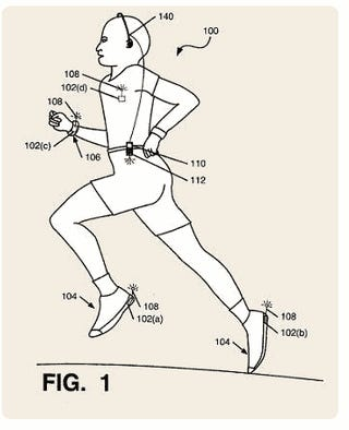 Nike+iPod Patent Shows Heart Rate, Temperature and Hydration Monitors