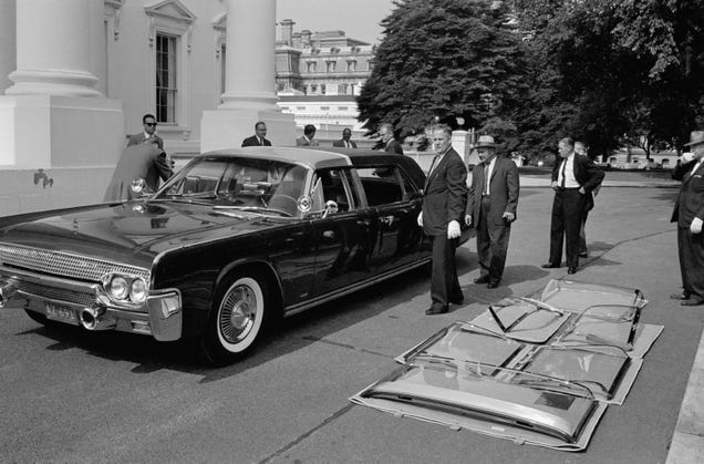 why jfks limousine stayed in service for 13 years after