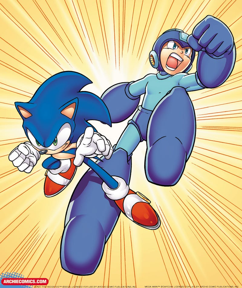 Sonic and Mega Man Team Up for the First Time Ever in An Archie Comics Crossover