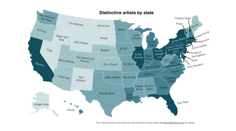 That Other Map Was Wrong. This Is Your State's Real Favorite Music