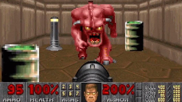 Crazy Guy Remasters 320x240 Doom Screenshot Into Stunning 9600x7211-Pixel Photoshop
