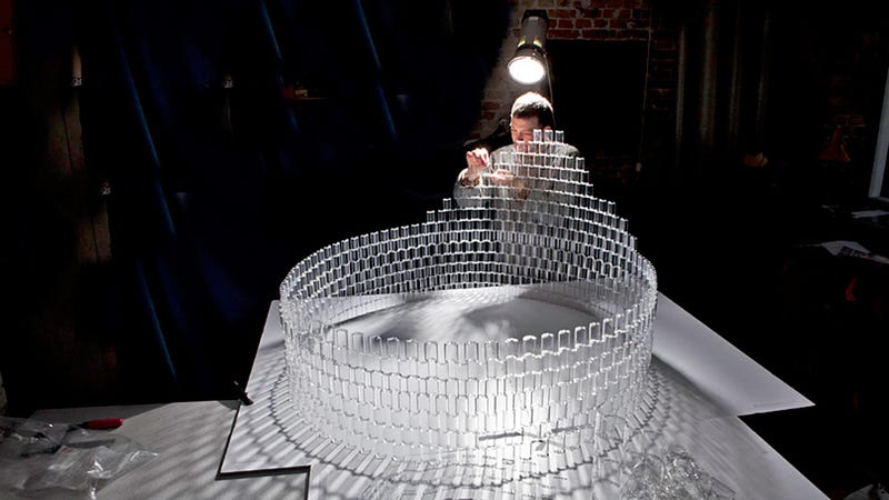 A Stunning Crystal Chandelier That's Actually Made From Lego