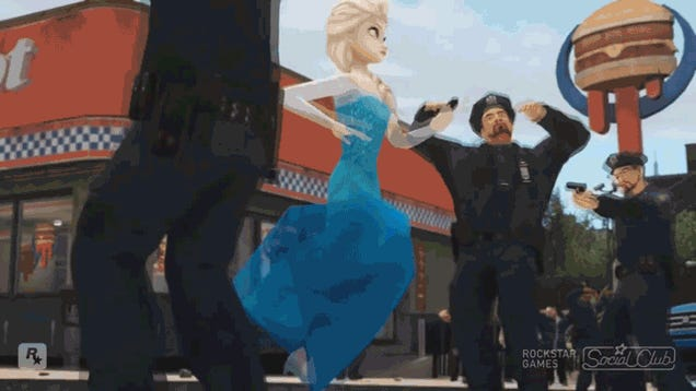 Frozen's 'Let It Go,' Done Grand Theft Auto Style