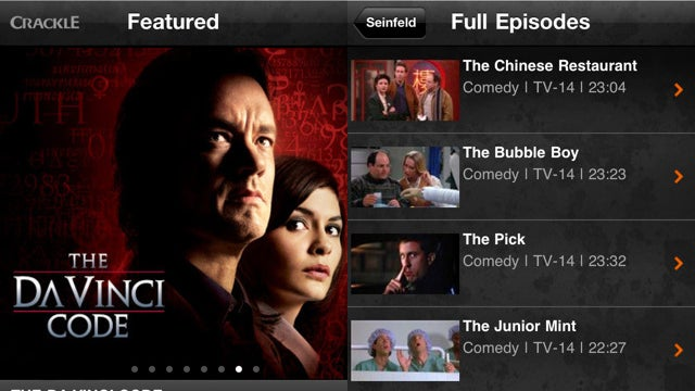 Sony's Crackle App Streams Movies and TV Shows to Your iPhone and iPad for Free