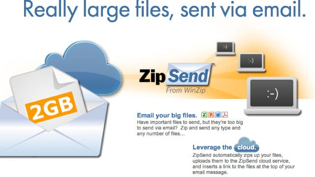 WinZip's ZipSend Transfers Large Files via Email, ZipShare Posts Them to Facebook