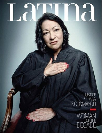 Sotomayor Covers The December Issue of Latina