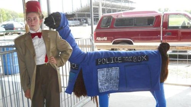 This is the weirdest TARDIS cosplay we've ever seen