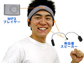 Thanko Vonia: Shuffle Sweatband Uses Bone Conduction, Makes You Happy, Doesn't Require Lobotomy
