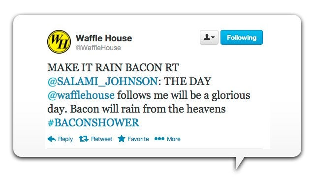 Whoever Runs Waffle House's Twitter Account Is a F*cking Awesome Bacon Addict
