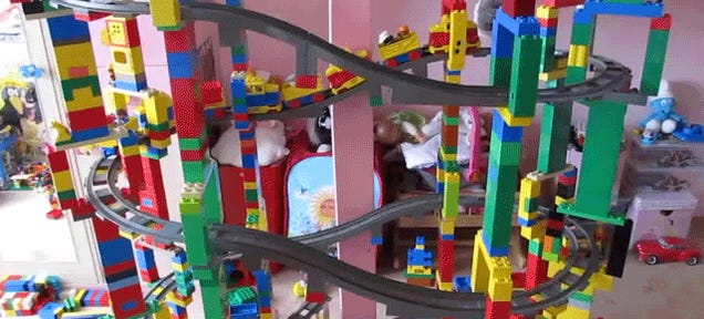 This Giant Lego Duplo Train Crash Is All That Makes Me Happy Anymore