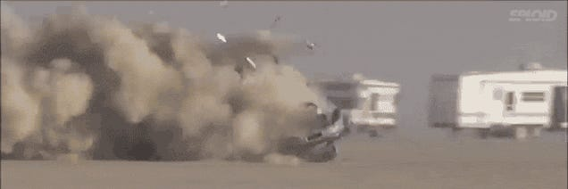 An unbreakable man somehow survived this insane 190 mph car crash