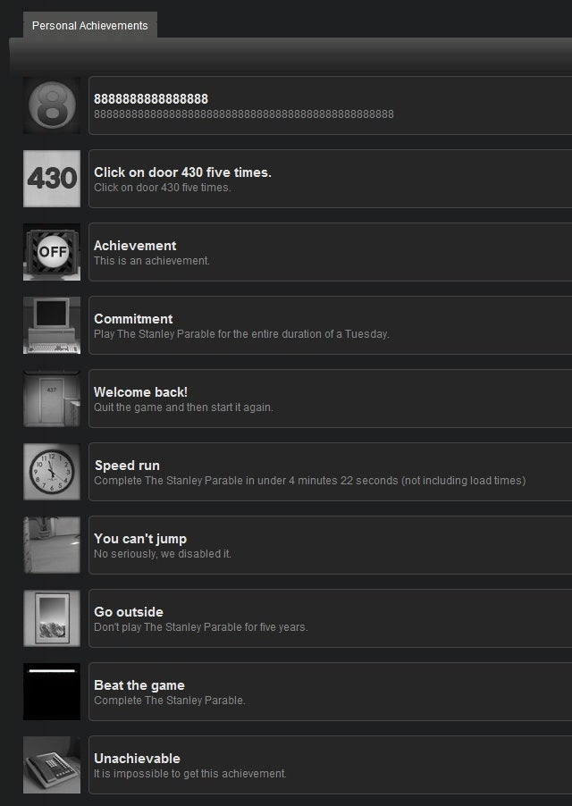 New PC Game's Joke Achievements Are Also The Best Achievements