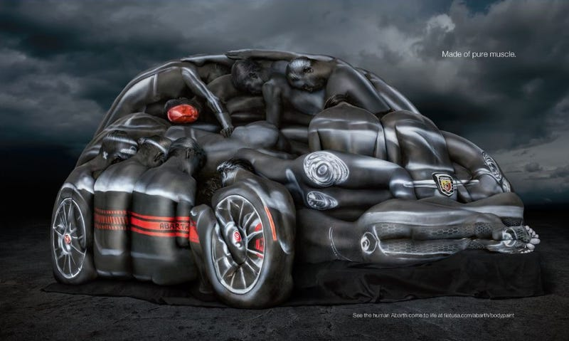 Here's How Fiat Built A Car Out Of Naked People