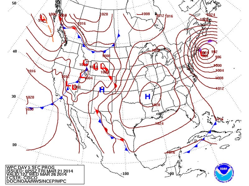 Models Showing a Potential Nor'easter Next Week