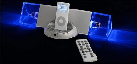 iBlueTube Vacuum Tube iPod Dock From Thanko