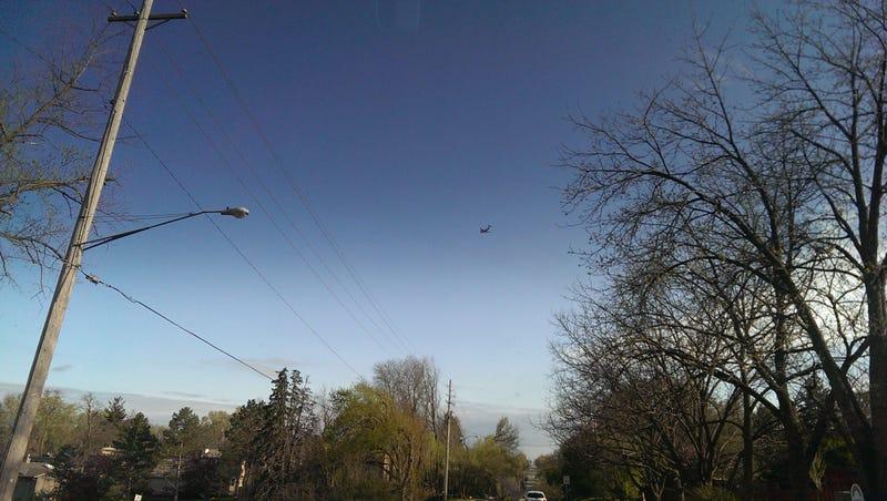 Planelopnik- C-17 Globemaster flew over my car just now