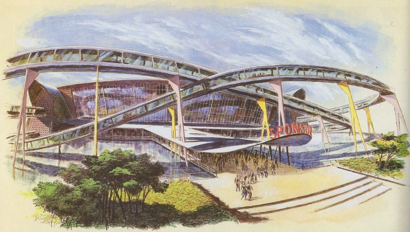 This Early Concept for the 1964 Ford Pavilion Was Googie-tastic