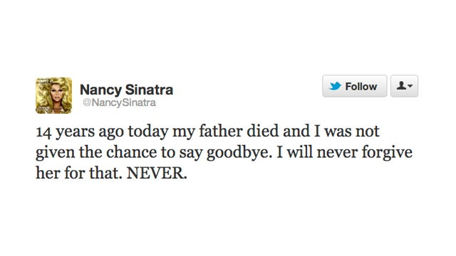 Nancy Sinatra Is Holding On to a Mean Grudge