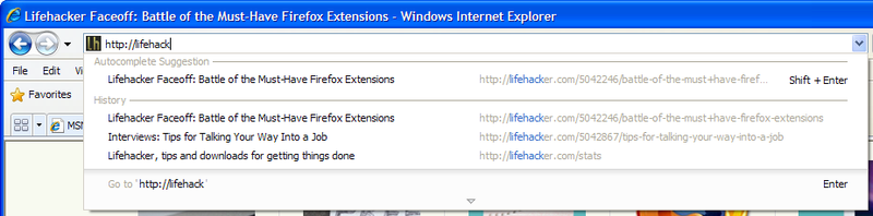 Internet Explorer 8 Beta 2's (Familiar) New Features