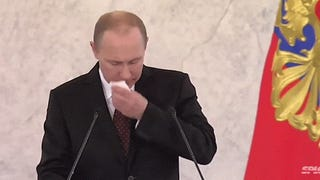 A Vladimir Putin speech without the speech and just sounds is so great