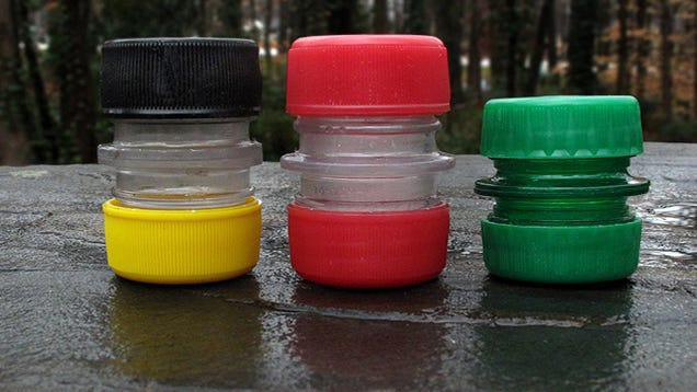 Make a storage capsule out of two plastic soda bottles for Things to make out of plastic bottles