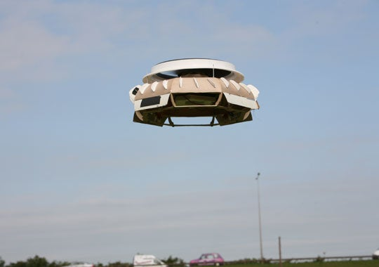Real Flying Saucer Takes to the Air