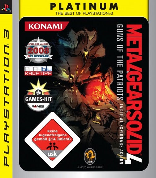 Find The Snake On Germany's Metal Gear Solid 4 Platinum Cover