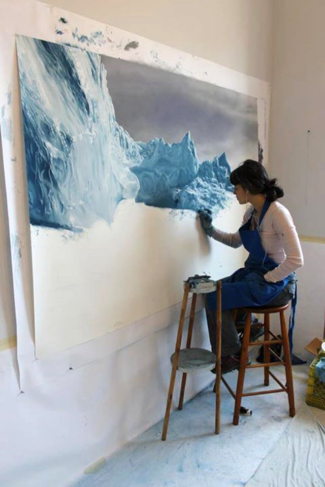Incredible iceberg images are actually drawn with fingers