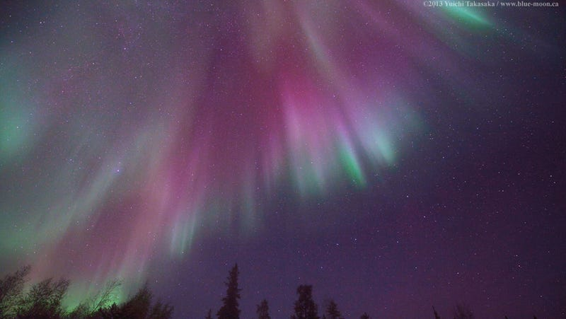 The Canadian sky is bursting with colors