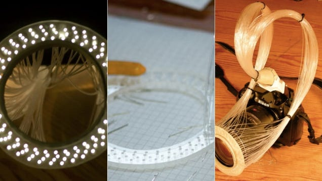 DIY Photography: Ring Flashes Are Expensive. Make Your Own Using Fiber Optics